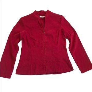 Dressbarn   Red Zip Up Jacket Women Size S